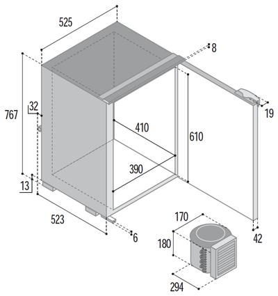C110bt congelatore unit refrigerante esterna yacht e - Unita esterna condizionatore dimensioni ridotte ...