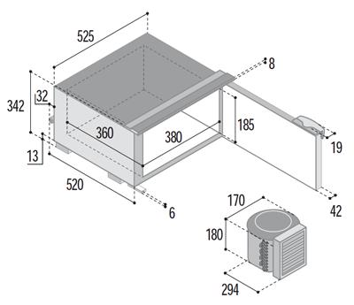 C30bt congelatore unit refrigerante esterna yacht e - Unita esterna condizionatore dimensioni ridotte ...