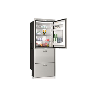 DW360IXN1-EFIV upper refrigerator compartment and lower freezer with icemaker/freezer compartment