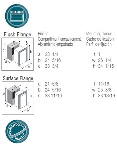 DW180IXN4-EF double freezer/freezer compartment