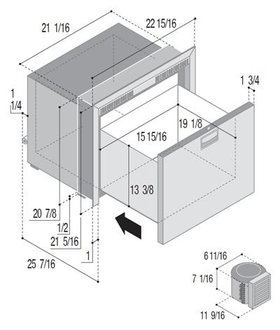 DW100RXN4-EF single freezer compartment