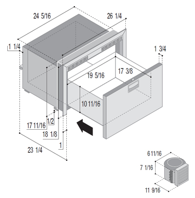 DW70RXN4-EF single freezer compartment