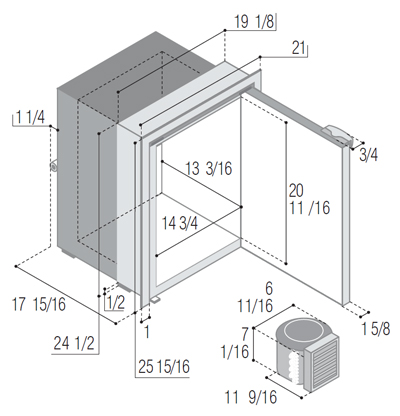 C75RBD4-F (external cooling unit)