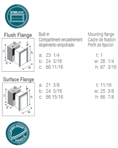 DW360IXD4-EFV upper refrigerator compartment and lower freezer/refrigerator compartment