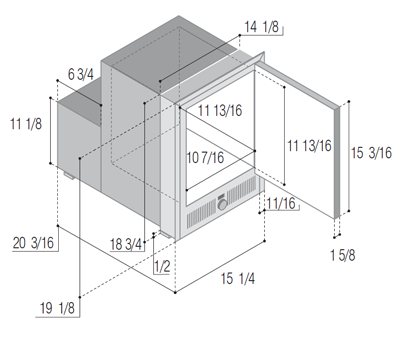 IMXTIXN2-S surface flange 230Vac icemaker