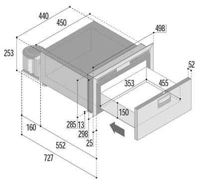 DW35 BTX single freezer compartment