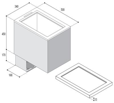TL43 Kühltruhe-Gefrierschrank (externe Kühleinheit)